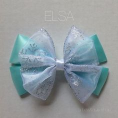 elsa hair bow by abowtiqueshop on Etsy
