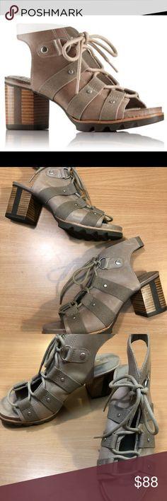 5a800a271b51 Sorel Addington open toe lace up heeled sandals NWOT