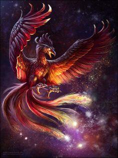 Phoenix on Fire by christoskarapanos on DeviantArt Phoenix Artwork, Phoenix Wallpaper, Phoenix Drawing, Phoenix Images, Dragon Artwork, Mystical Animals, Mythical Creatures Art, Mythological Creatures, Magical Creatures
