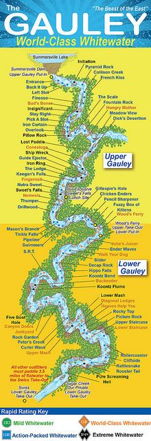 Gauley River Map by ACE Adventure Resort. I truly can't wait to experience this river one day!!!!