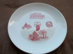 Indiana Sesquicentennial Plate 1816-1966