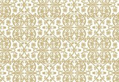 Modern Wallpaper, Grace White and Gold Wallpaper (Sample)   Viesso $5.00