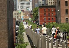 Between buildings - The High Line, NYC