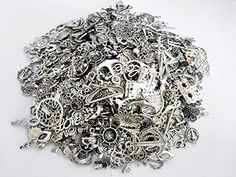Incredible art 80-Piece Silver Pewter Charms Pendants Mega Mix DIY for