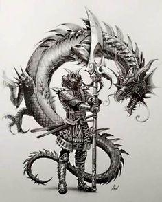 Tattoo Designs Dragon Fantasy Art 56 Ideas For 2019 Japanese Tattoo Art, Japanese Tattoo Designs, Japanese Art, Japanese Warrior Tattoo, Japan Tattoo Design, Samurai Tattoo, Ronin Tattoo, Bild Tattoos, Body Art Tattoos