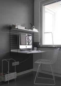 Home office & grey tones / Harmaan sävyissä