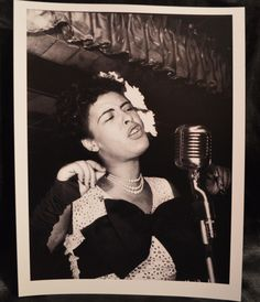 Beautiful vintage reprint photograph of Jazz Legend, Billie Holiday. This is a very nice photograph of Lady Day.    | eBay
