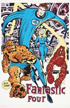 The Fantastic Four, by Jack Kirby.