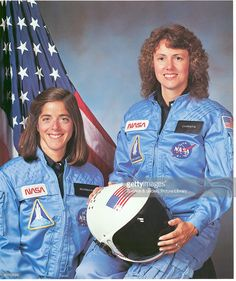 Christa McAuliffe (right) and Barbara Morgan, teacher in space primary and backup crew members for Shuttle Mission STS-51L. This mission ended in failure when the Challenger orbiter exploded 73 seconds after launch on January 28, 1986.
