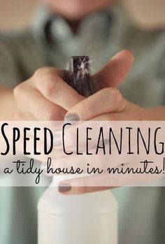 "Speed Cleaning - I thought today I'd share my little ""speed cleaning"" routine. I probably spend, on average, about 45 minutes to an hour each morning making my house sparkle. This means I spend about 5-7 hours a week cleaning. That is still a significant amount of time!"
