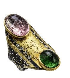Tourmaline Cabochon Ring by Atelier Zobel.