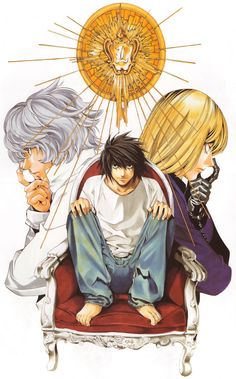 L Mello and Near Anime Death Note by obata takeshi