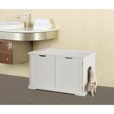 Shop for Merry Products Cat Litter Box Enclosure and Bench. Get free delivery at Overstock.com - Your Online Cat Supplies Store! Get 5% in rewards with Club O!