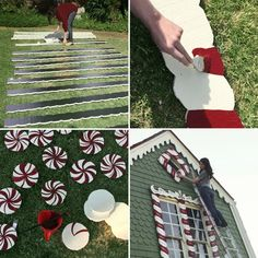 See How One Woman Turned Her Parents' Home Into a Real-Life Gingerbread House - Christmas Gingerbread Christmas Decor, Candy Land Christmas, Outside Christmas Decorations, Gingerbread Decorations, Christmas Lights, Christmas Holidays, House Decorations, Candy Decorations, Outdoor Decorations