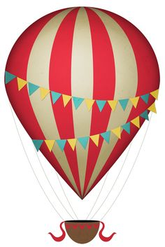 vintage hot air balloon% in red hot air balloon clipart collection - ClipartFox Hot Air Balloon Clipart, Fire Balloon, Balloon Basket, Birthday Presents For Girls, Free Clipart Images, Balloon Rides, Birthday Balloons, Birthday Cakes, Stuffed Animal Patterns