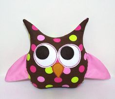 Owl Pillow Plush by LoungeAboutPillows on Etsy, $25.00