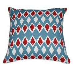 "18"" x 18"" Light Blue Diamond Decorative Pillow P0009-1818P"