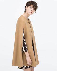 ZARA - WOMAN - BUTTONED CAPE COAT