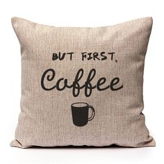 But first, Coffee via Sweet Little Sunday. Click on the image to see more! Cushion Cover Pillowcase Pillow quotes
