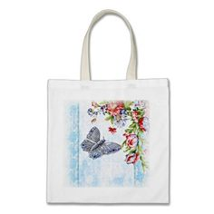 Flutter Bug Tote Bag #vintage #shabby #bags