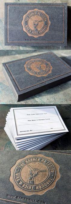 Bold Black And Gold Letterpress Business Card Design (Business Card Black Letterpresses) Business Stationary, Letterpress Business Cards, Letterpress Printing, Business Branding, Business Card Design, Corporate Identity, Corporate Design, Barber Business Cards, Business Card Maker