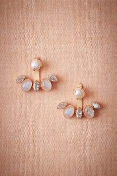 Sea Gem Ear Jacket in Shoes & Accessories Jewelry Earrings at BHLDN