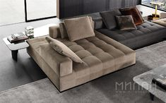 Combine different elements to create a unique space with the modular Minotti Lawrence Seating System.