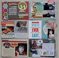 Project life Such fun ideas.  Cant wait to try this with my Close to My Heart products.  Love it