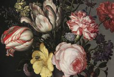 Detail - Flowers in a Vase with Shells and Insects, Balthasar van der Ast, about 1630