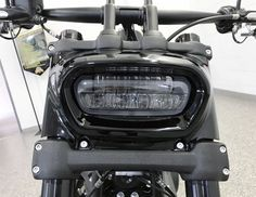 Looks even cooler turned on, but you'll have to come in to see that. Harley Fat Bob, Harley Davidson Fat Bob, Harley Davidson Motorcycles, Harley Street Bob, Best Classic Cars, Cool Motorcycles, Motorcycle Gear, New Tricks, Photos