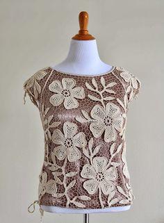 Outstanding Crochet: Irish Crochet motif - 5 petals flower.