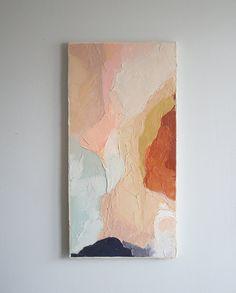 Original Acrylic Painting // Title: Terrain // 12 x 24 // Copper, Gold, Blue, Nude