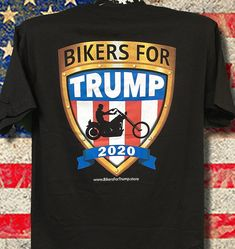 2020 Bikers for Trump (Black) Bikers For Trump, Black Rat, American Made, Rats, How To Look Better, Naked, Cotton, Mens Tops, Shirts