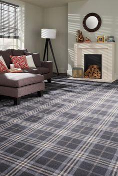 Cheap Carpet Runners For Stairs Grey Tartan Carpet, Grey Carpet, Modern Carpet, Living Room Carpet, Living Room Grey, Home Living Room, Stairway Carpet, Office Carpet