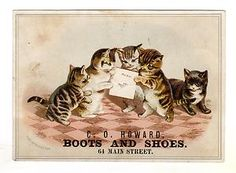 Vintage trade card illustrated by Helena Maguire.