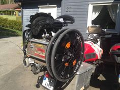 i use a wheelchair and ride a motorcycle, so made a mount for it on my BMW R100 #bmw #airhead #wheelchair #motorcycle #wheelchairmount #hcmotors #wheelchaironmotorbike