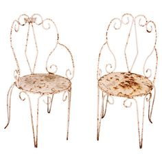 I pinned this Vintage French Garden Chair (Set of 2) from the Vintage Discoverie event at Joss and Main!