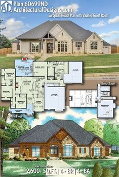 Bowles Plan - home - Home Design European House Plans, Best House Plans, Dream House Plans, My Dream Home, The Plan, How To Plan, Timber Beams, Autocad, Bedroom House Plans