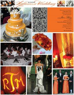 Elegant Halloween wedding