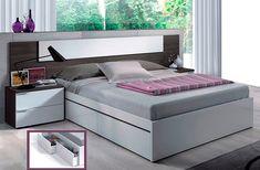 Resultado de imagen para cama cabecera melamina Mattress, Bench, Storage, Furniture, Home Decor, Bedroom Modern, Headboards, Drawers, Purse Storage