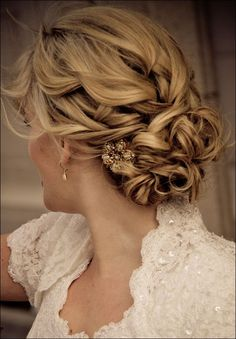50 Elegant Wedding Updos For Long Hair and Short Hair Possibly prom?