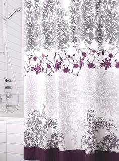 Bathroom Decorating Ideas, Romantic Gray-Purple Color Combination ...