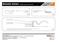 Detalle unión lucernario sispol 30mm con panel teja Ironlux