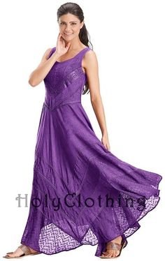 Purple Fuchsia Venus Diamond Neck Satin & Lace Full A-Line Skirt Sun Dress - Purple - Shop by Color - Dresses