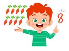 Number Words Worksheets, Math Numbers, Website Illustration, Creative Illustration, Math Vector, Teacher Cartoon, Avatar Characters, School Frame, Art Drawings For Kids