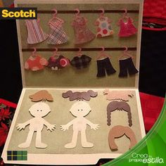 Vistiendo muñecas de cartón