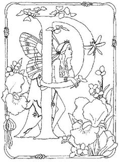 coloring page Alphabet fairies on Kids-n-Fun. Coloring pages of Alphabet fairies on Kids-n-Fun. More than coloring pages. At Kids-n-Fun you will always find the nicest coloring pages first! Apple Coloring Pages, Fairy Coloring Pages, Free Coloring Sheets, Alphabet Coloring Pages, Printable Coloring Pages, Coloring Pages For Kids, Adult Coloring, Coloring Books, Flower Fairies