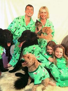 See Rebecca Romijn and her family's Christmas jammies - Rebecca Romijn & Co. are showing off their Christmas. Rebecca Romijn, Can Dogs Eat Watermelon, Jerry O'connell, Happy 5th Birthday, Celebrity Moms, Pet Names, Comic Book Characters, Holiday Photos, Family Christmas