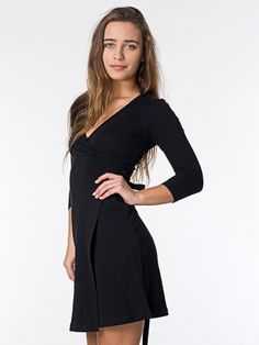 Interlock Wrap Dress, American Apparel.  ...I could get over my distressing fear of if it would unwrap itself, I'm sure.