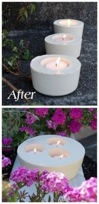 The Homestead Survival | Make Gorgeous Candle Holders From Cement | DIY Craft Project  http://thehomesteadsurvival.com